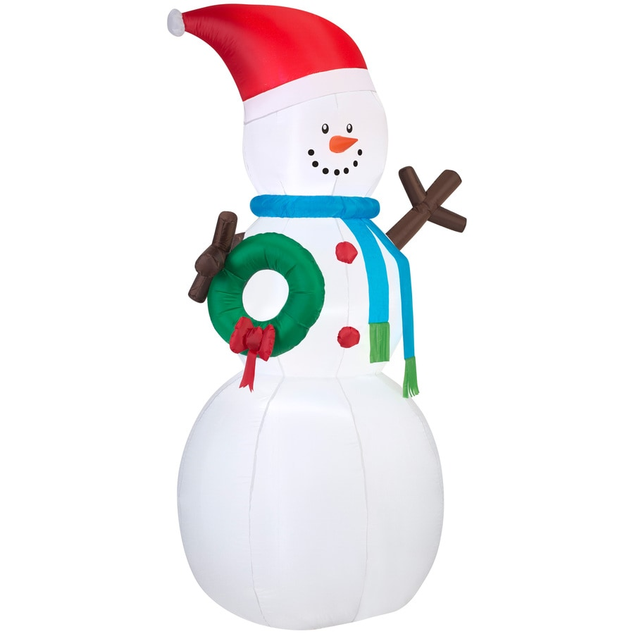 Holiday Living 6.98-ft x 2.82-ft Lighted Snowman Christmas Inflatable