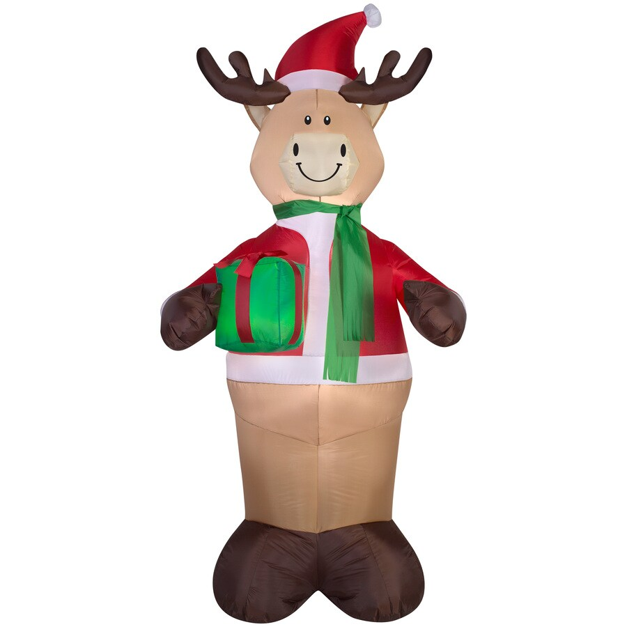 Holiday Living 6.98-ft x 2.95-ft Lighted Deer Christmas Inflatable