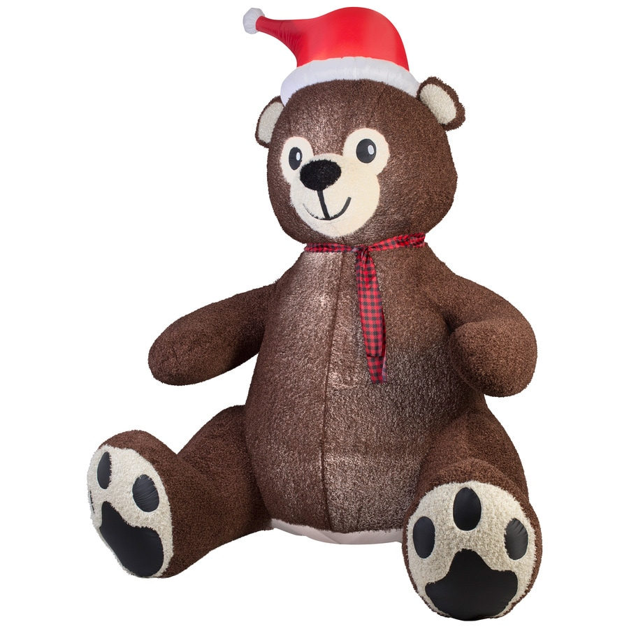 Holiday Living 8.95-ft x 4.59-ft Lighted Teddy Bear Christmas Inflatable