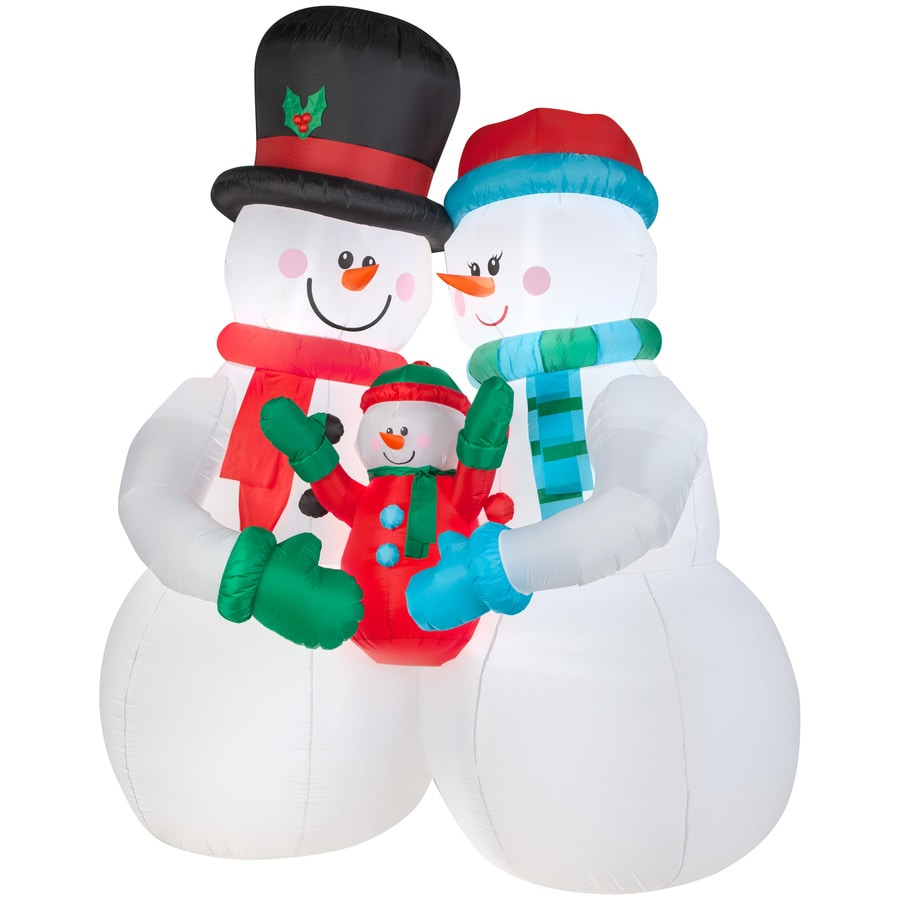 holiday living 10 ft x 459 ft lighted snowman christmas inflatable - Lowes Christmas Yard Decorations