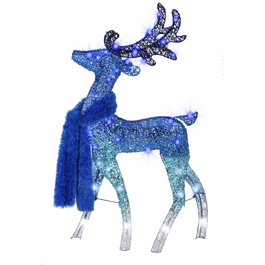 Holiday Living Pre-Lit Buck Sculpture with Multi-function  Multicolor LED Lights