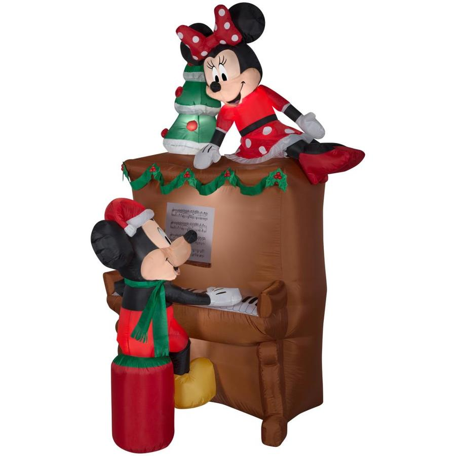 disney airblown mickey and minnie piano - Lowes Blow Up Christmas Decorations