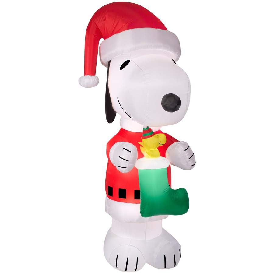 gemmy 10 ft x 452 ft lighted snoopy christmas inflatable - Snoopy Blow Up Christmas Decorations