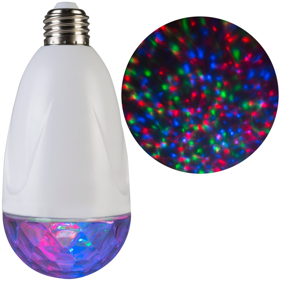 LightShow Projection Light Bulb Twinkling Multicolor LED Kaleidoscope Christmas Indoor Tabletop Projector