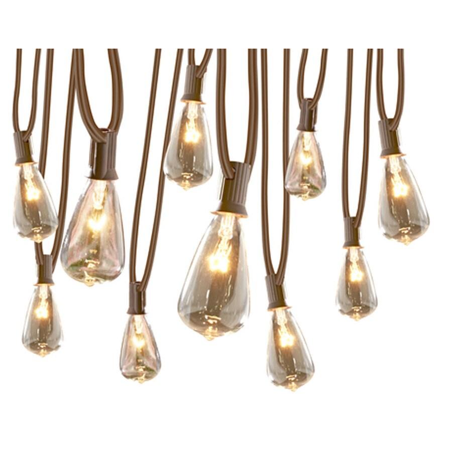Gemmy 10.5 Ft 10 Light White Bulbs String Lights