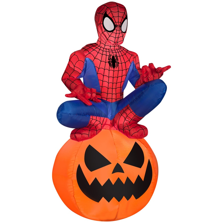 Shop gemmy lighted spider man halloween inflatable for Spiderman decorations