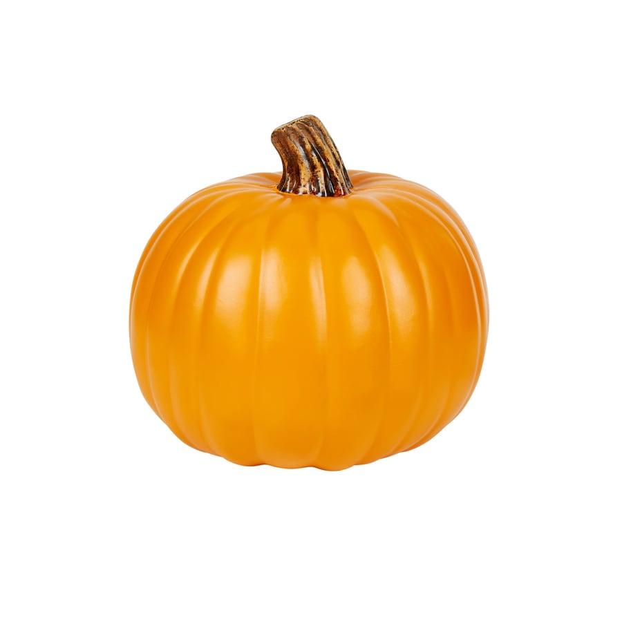 HARVEST 8.465-in H Painted Orange Polyurethene Craft Pumpkin