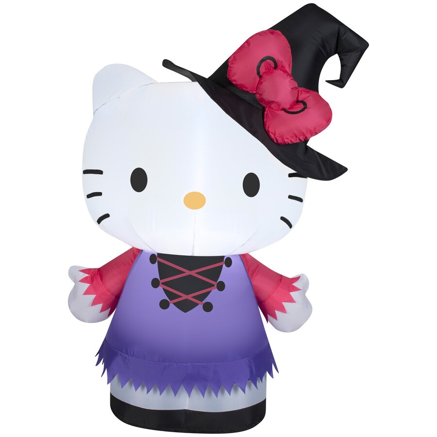 Shop Gemmy 3.28-ft Lighted Hello Kitty Halloween Inflatable at ...