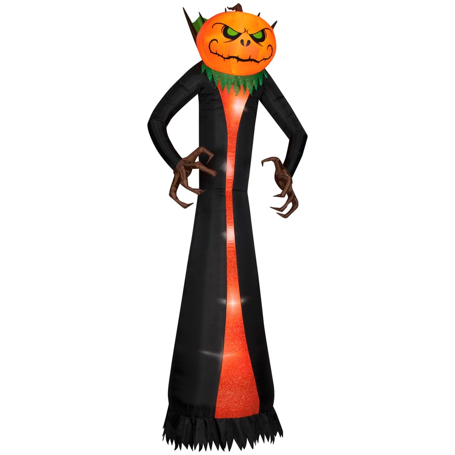 gemmy 12 ft lighted jack o lantern halloween inflatable - Lowes Halloween