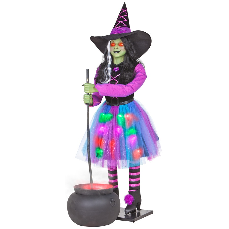 gemmy musical animatronic witch and cauldron outdoor halloween decoration - Lowes Halloween Decorations