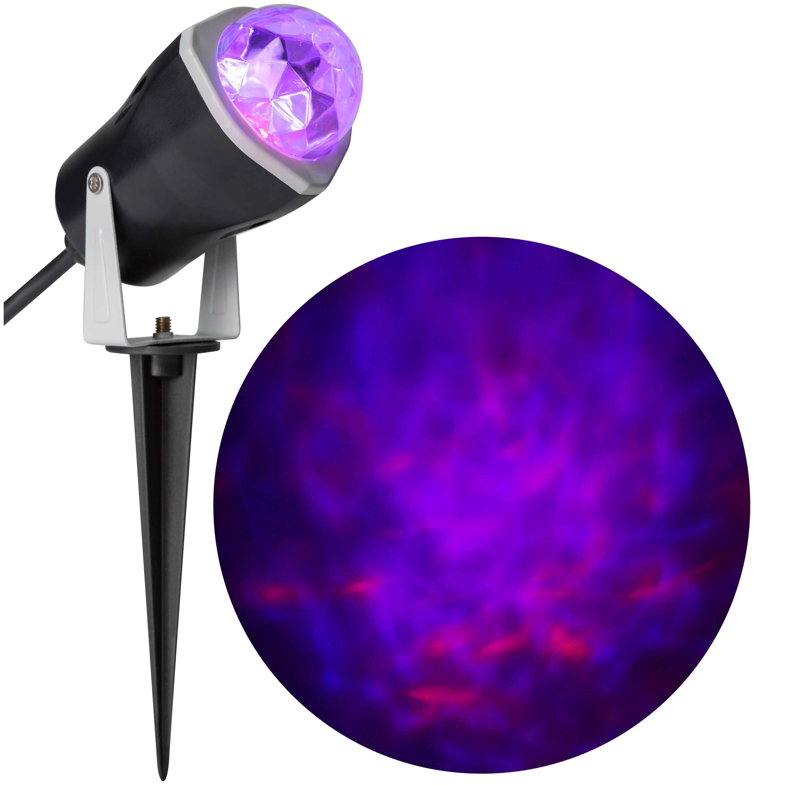 Gemmy Fire and Ice Multi-Function Purple/Orange Led Multi-Design Halloween Outdoor Stake Light Projector