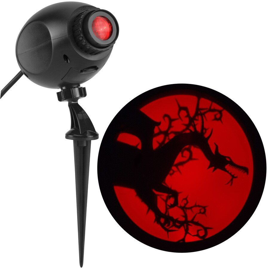 Disney Maleficent Multi-Function Red Led Multi-Design Halloween Outdoor Stake Light Projector