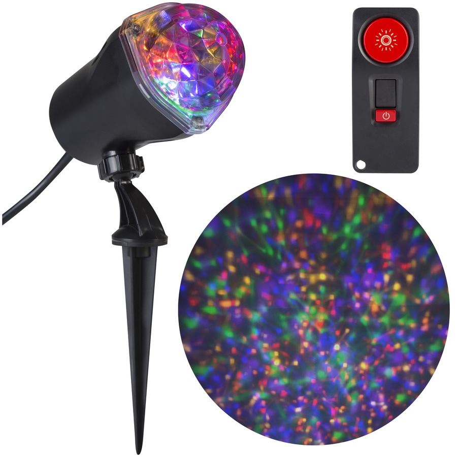 Gemmy Confetti Multi-Function Red/Green/Blue/Yellow/Purple Led Multi-Design Halloween Outdoor Stake Light Projector