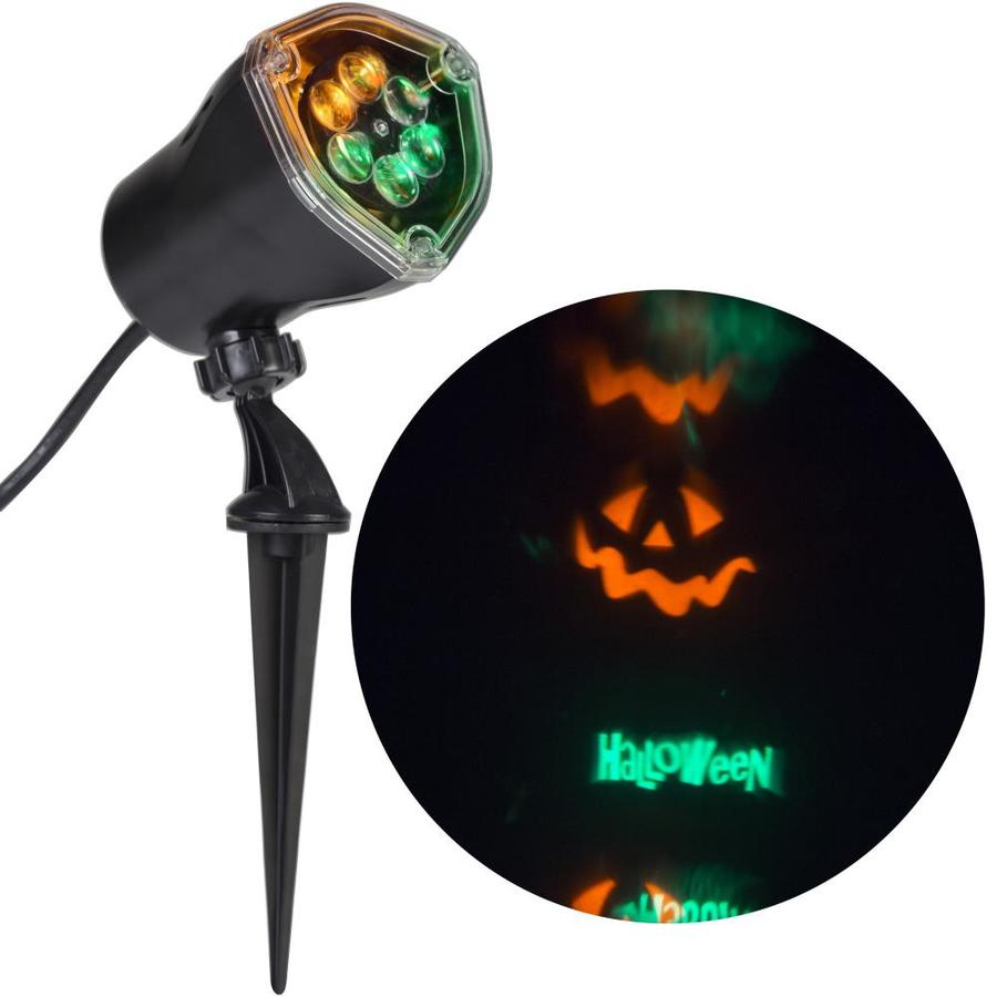 Gemmy Whirl-A-Motion Lightshow Multi-Function Green, Orange LED Happy Halloween Halloween Spotlight Projector