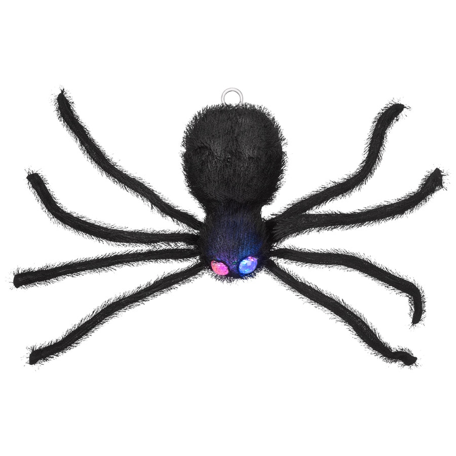 Holiday Living Animatronic Pre-Lit Musical Hanging Spider Figurine with Multi-Function Multicolor LED Lights