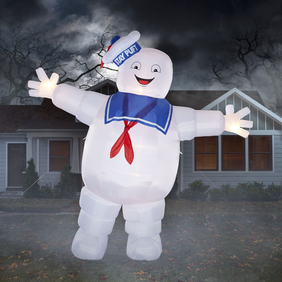 Gemmy 12-ft x 13-ft Lighted Stay Puft Marshmallow Man Halloween Inflatable