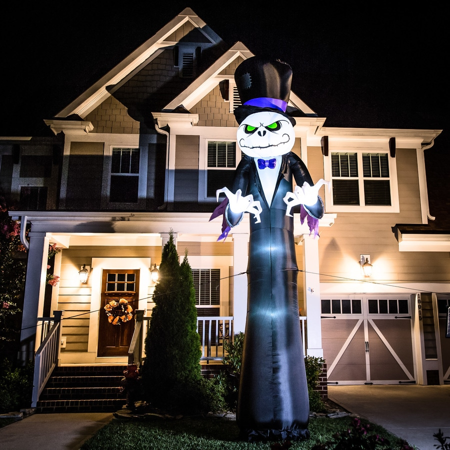 holiday living 16 ft x 6 ft lighted reaper halloween inflatable - Lowes Halloween Decorations