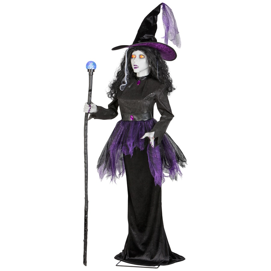 Holiday Living Animatronic Pre-Lit Musical Freestanding Countess Statue with Multi-Function Color Changing LED Lights