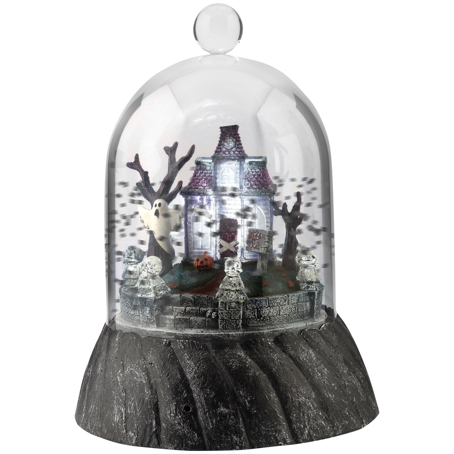 Holiday Living Pre-Lit Musical Haunted House Tabletop Decoration with Flashing White LED Lights