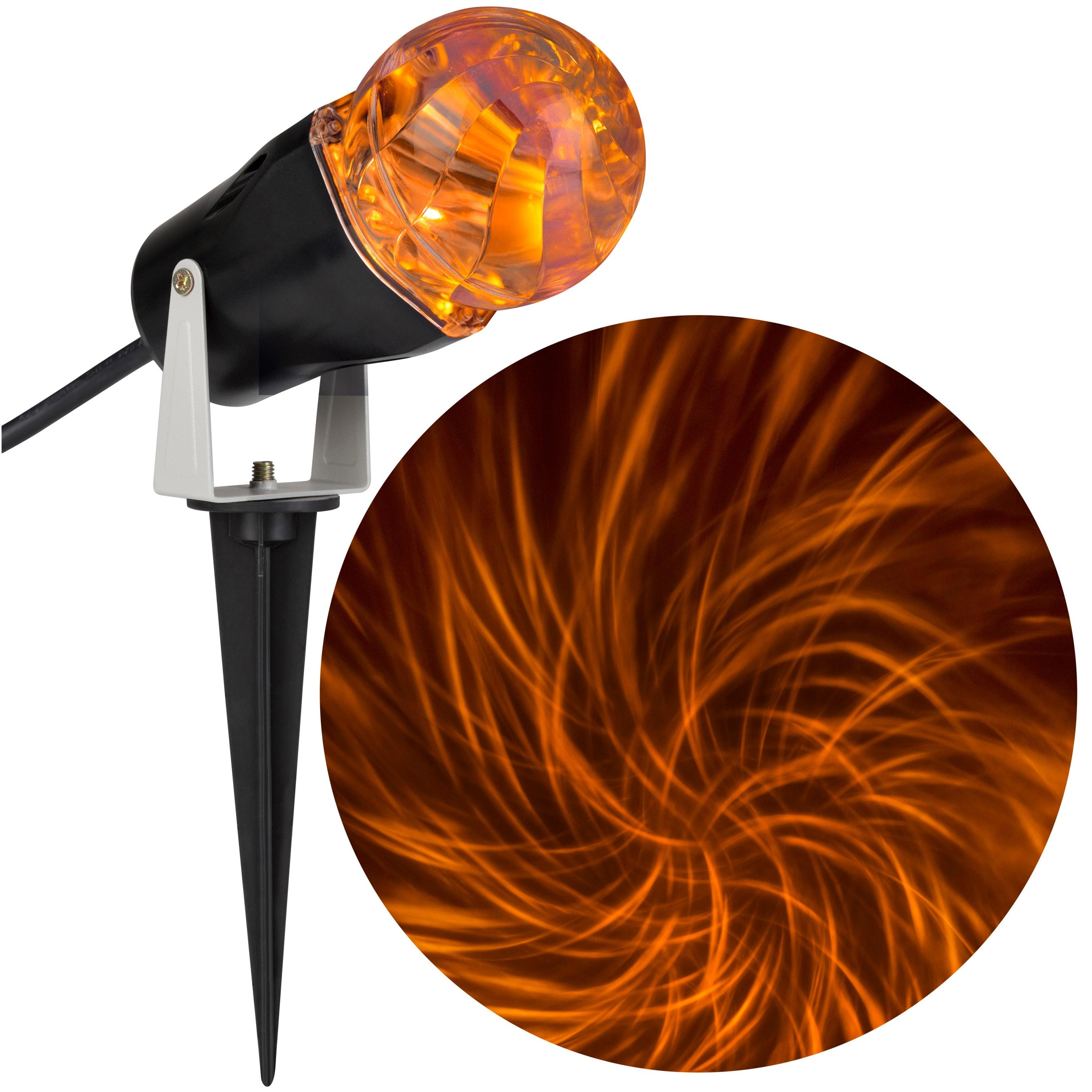 Gemmy Comet Spiral Multi-Function Orange Led Multi-Design Halloween Outdoor Stake Light Projector