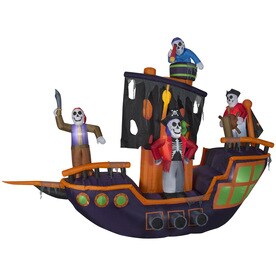 holiday living 912 ft x 115 ft animatronic lighted pirate ship halloween inflatable - Halloween Inflatables Clearance