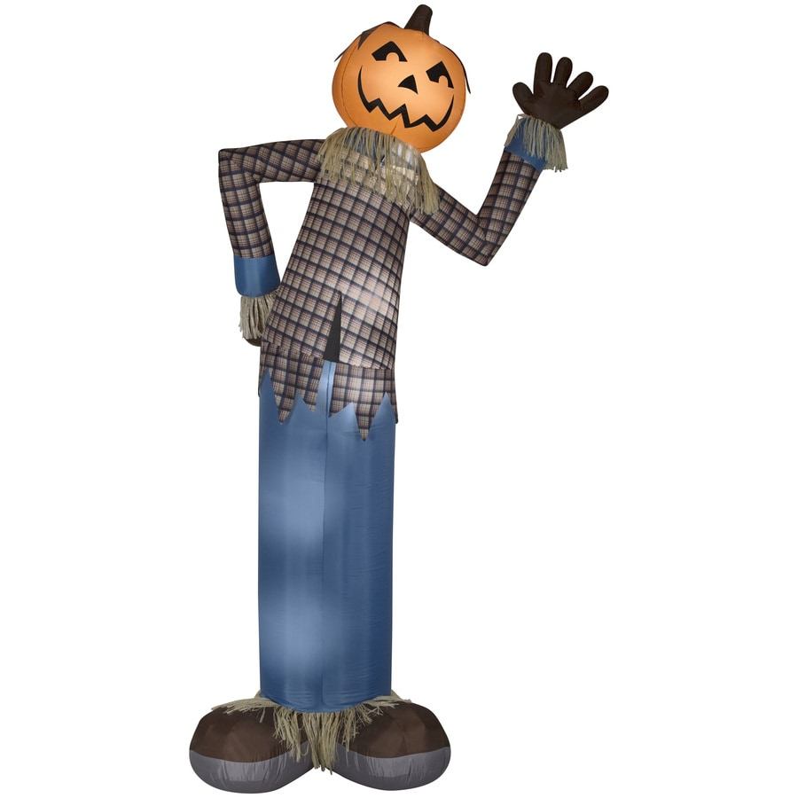 Holiday Living 12-ft x 5.54-ft Lighted Scarecrow Halloween Inflatable