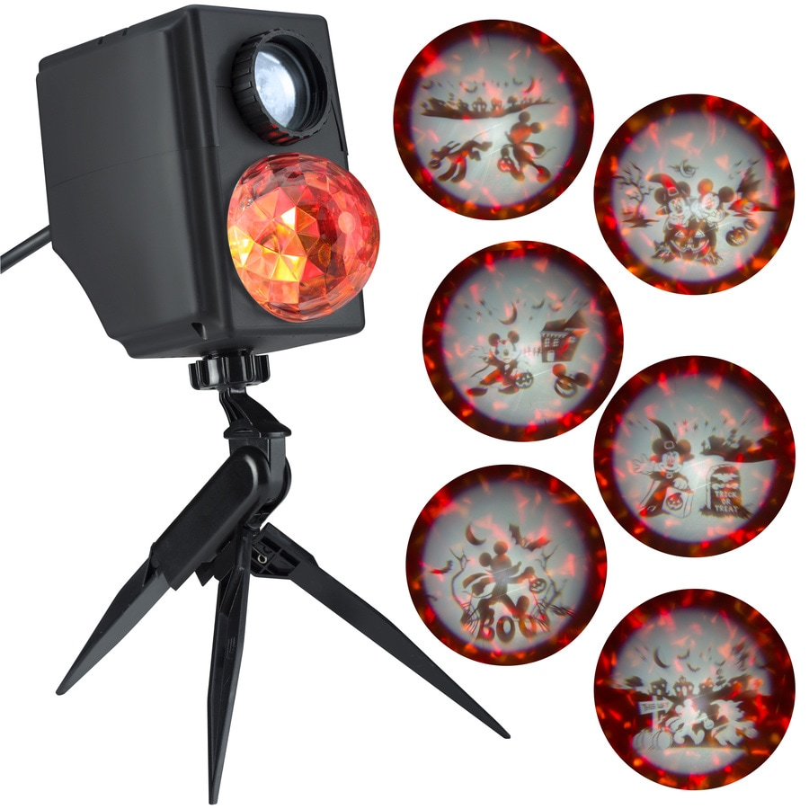 Disney Mickey Multi Function Red Orange Yellow Led Multi Design Halloween Outdoor Stake Light