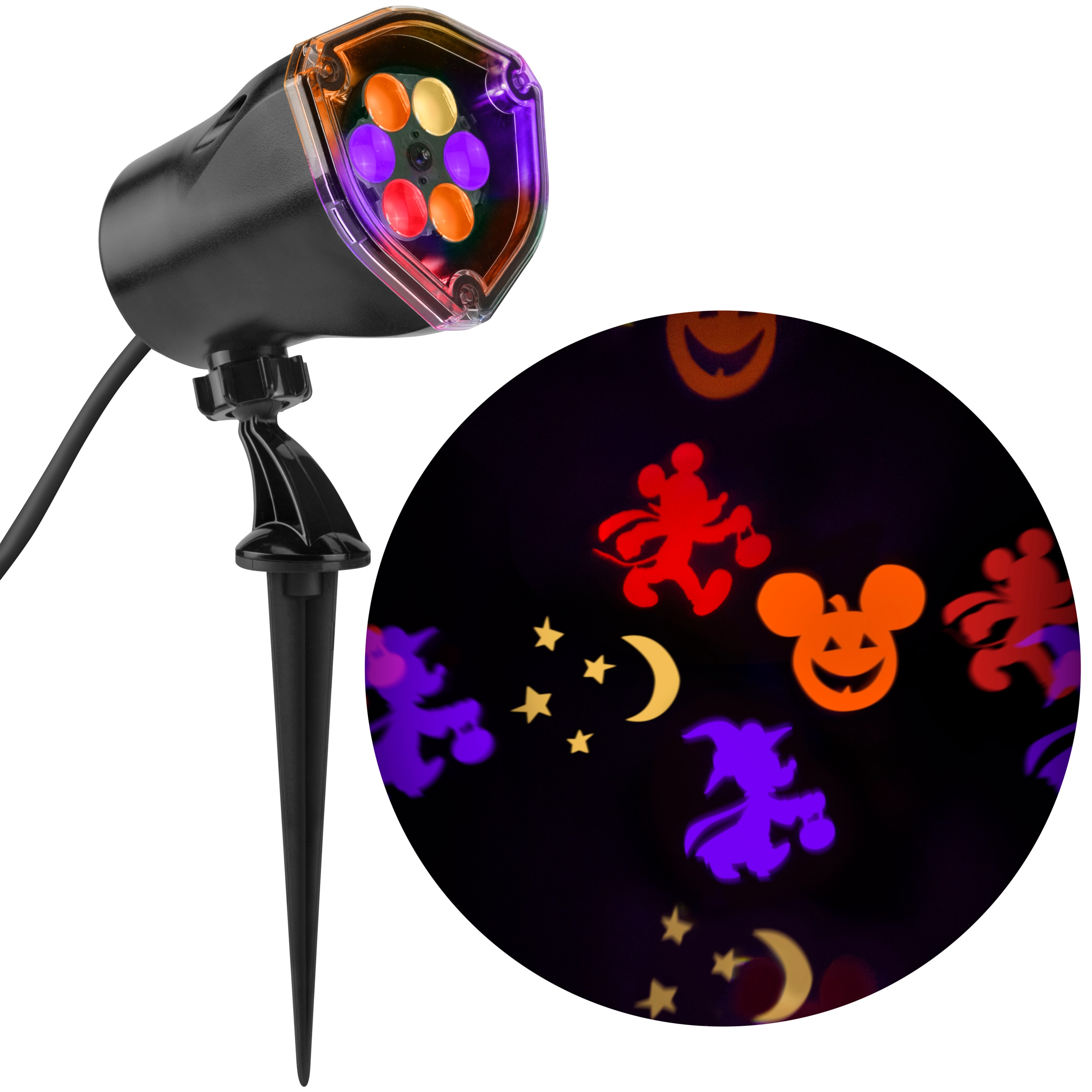 Gemmy Mickey Multi Function Red Orange Purple Yellow Led