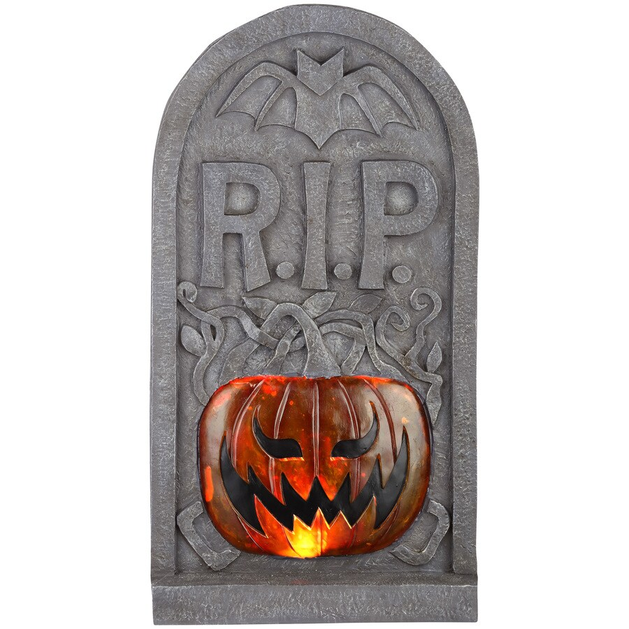 Holiday Living Pre-Lit Tombstone with Twinkling Multicolor LED Lights