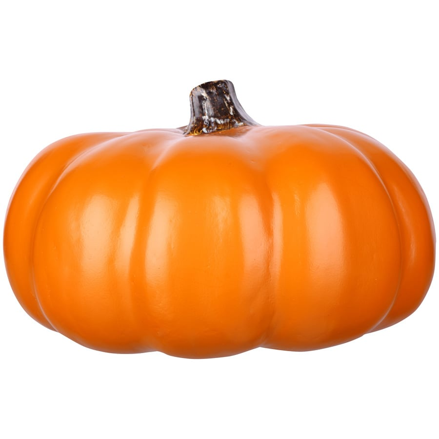 Holiday Living 7.48-in -in H Painted Orange Polyurethane Craft Pumpkin