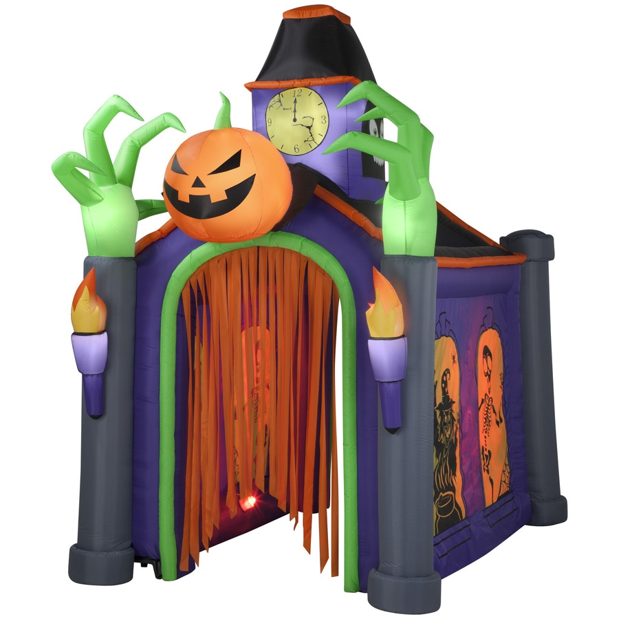 holiday living 105 ft x 666 ft animatronic lighted musical haunted house halloween inflatable - Halloween Inflatables Clearance