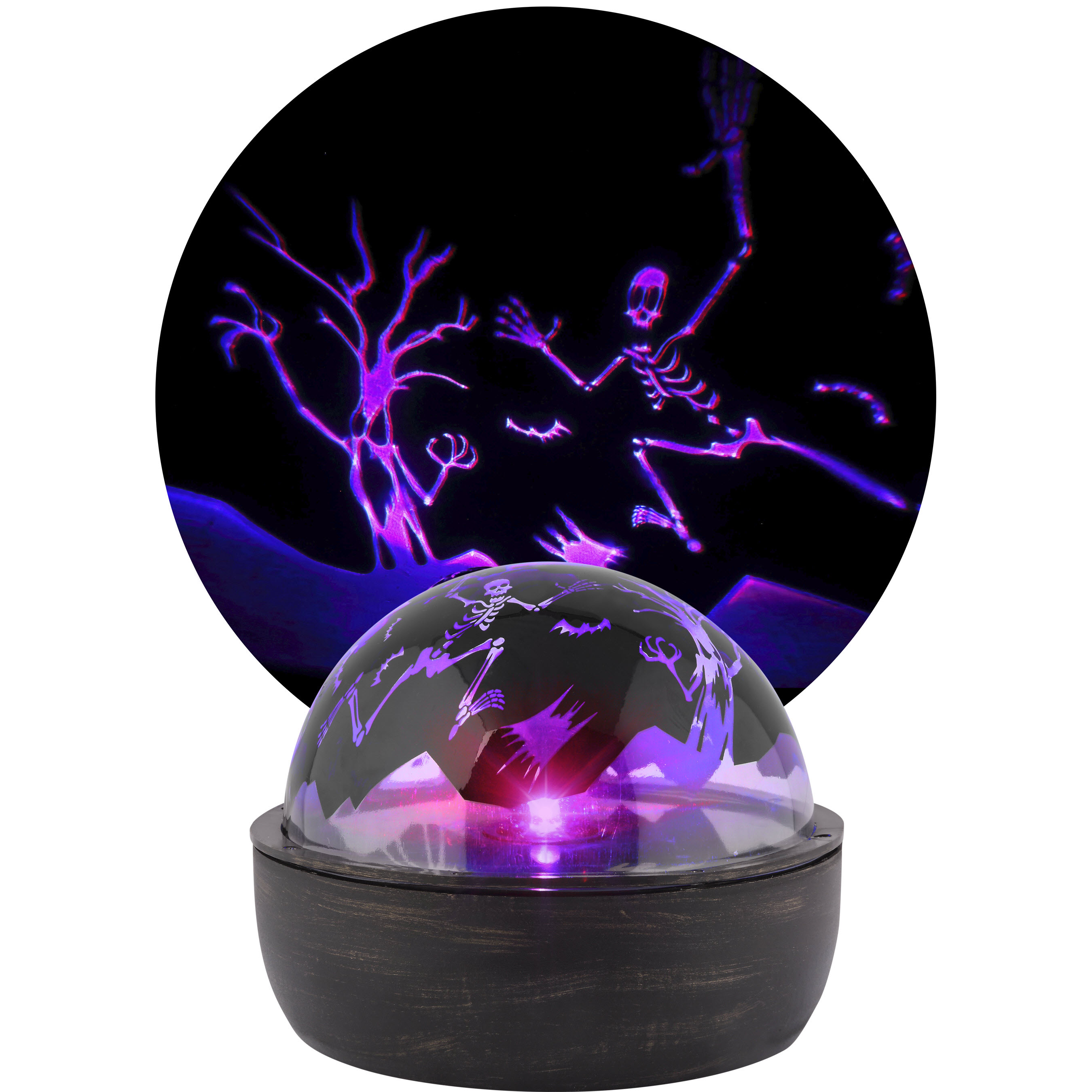 shop gemmy shadow lights multi-function purple led multi-design