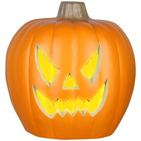 holiday living dc jack o lantern pre lit musical with twinkling multicolor led