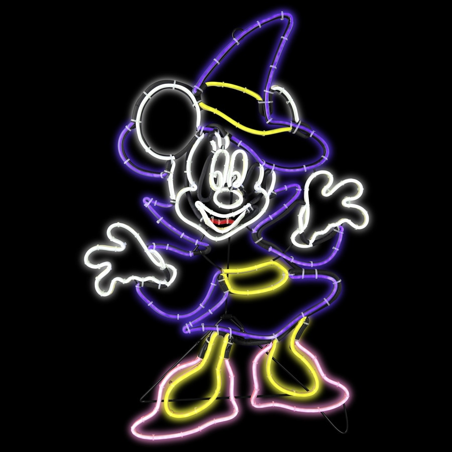 Disney Mickey & Friends Pre-Lit Witch Sculpture with Constant White LED Lights