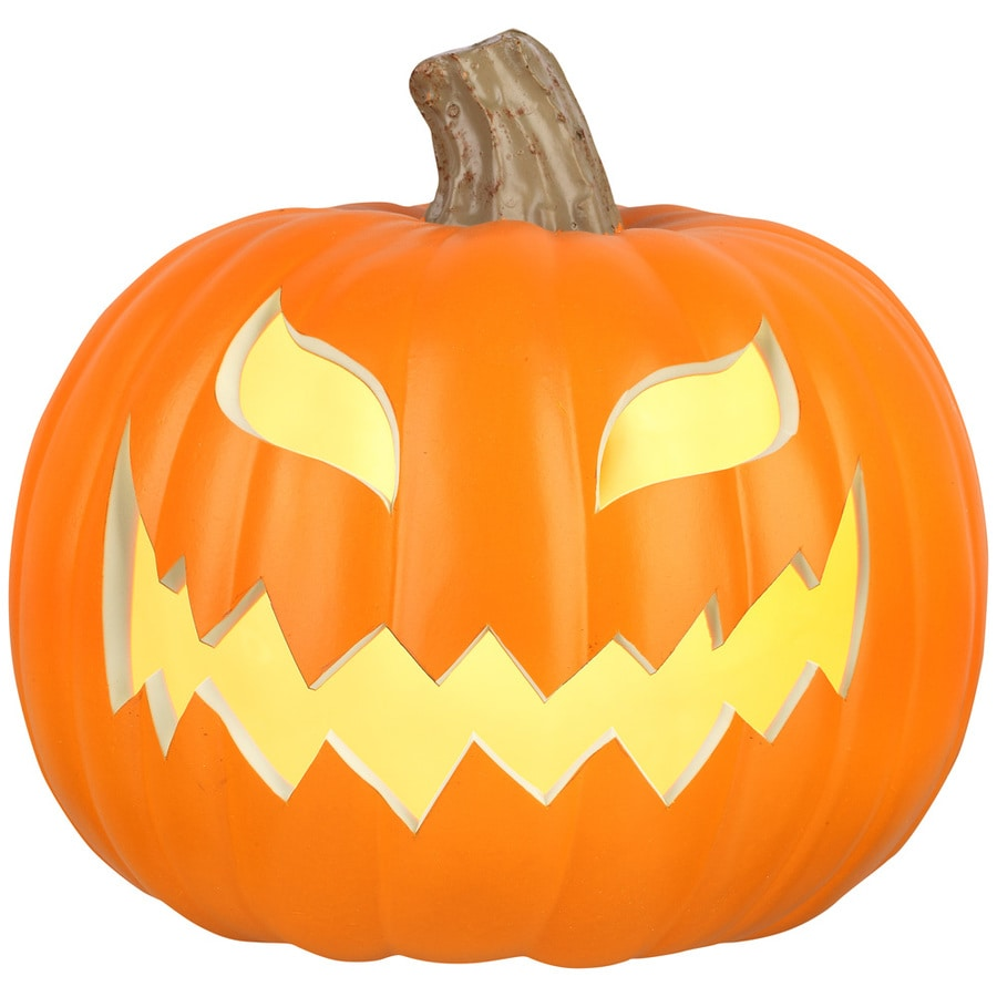Holiday Living Pre-Lit Jack-O-Lantern with Constant Orange Incandescent Lights