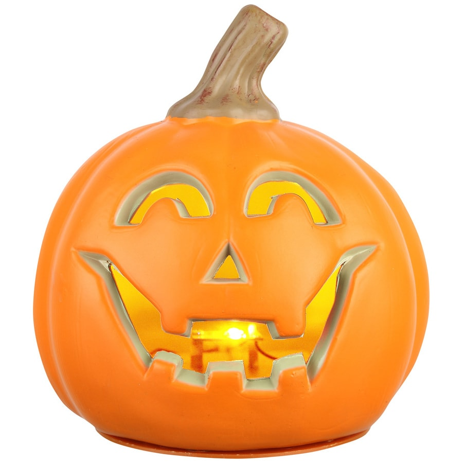 Holiday Living Pre-Lit Jack-O-Lantern with Constant Red LED Lights