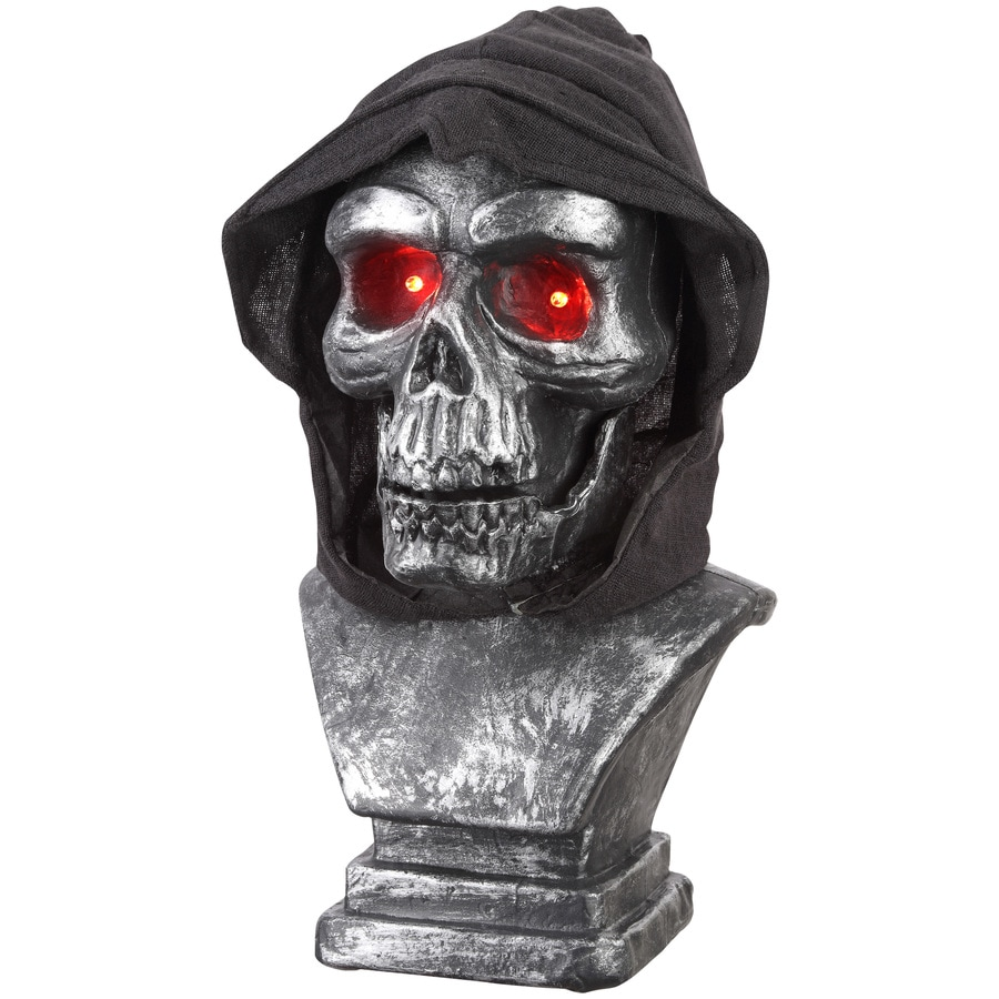 Holiday Living Animatronic Pre-Lit Reaper Tabletop Decoration with Red LED Lights
