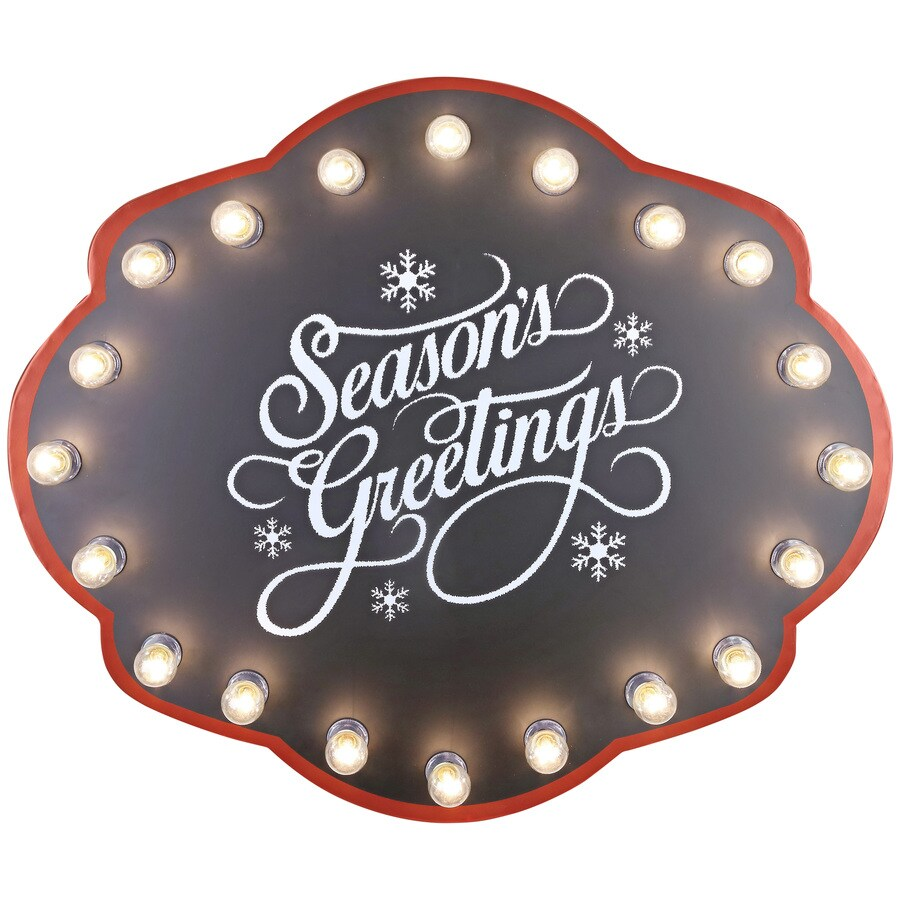 Holiday Living Pre-Lit Winter Sign with Constant Clear White Incandescent Lights
