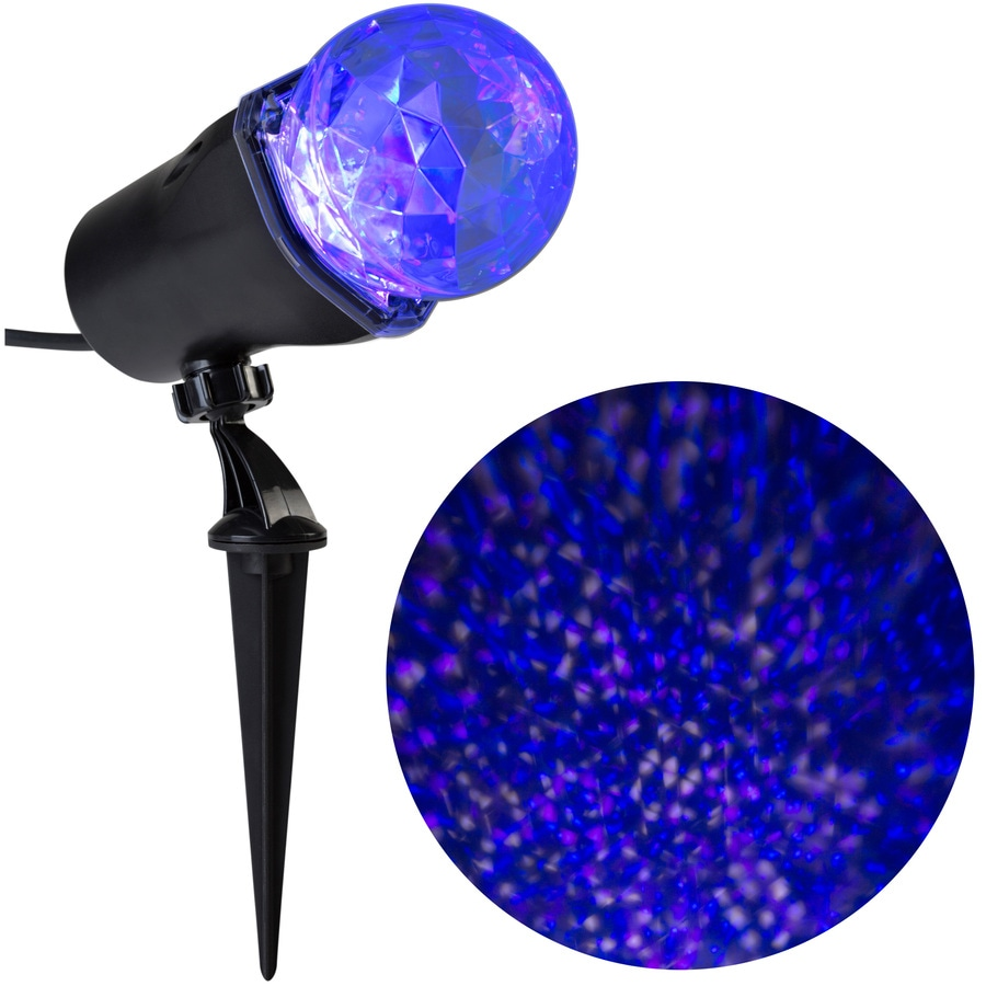 disney swirling white blue purple led christmas spotlight projector