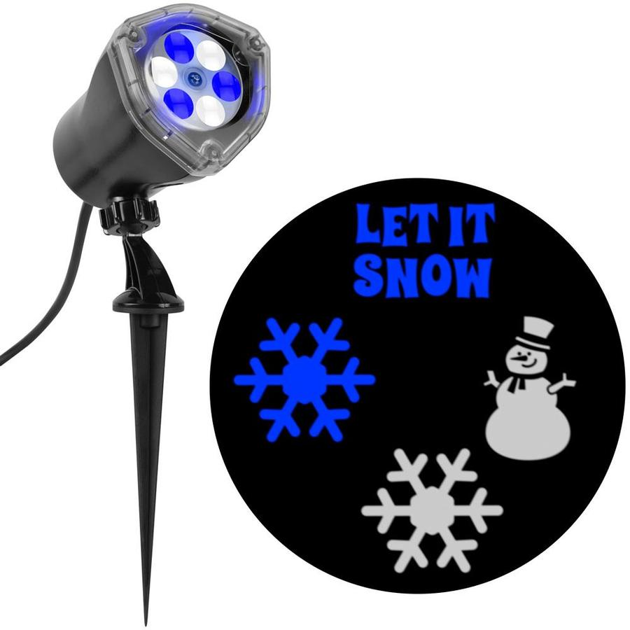 LightShow Lightshow Projection Multi-function White/Blue LED Multi-design Christmas Outdoor Tabletop Projector