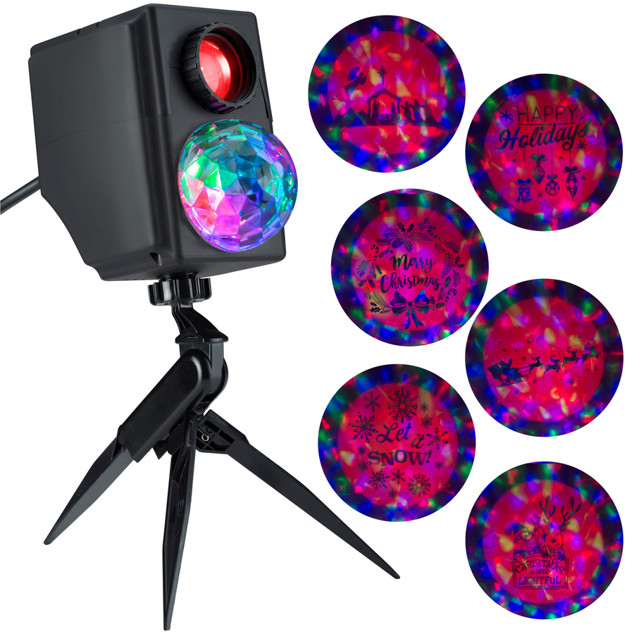 LightShow Lightshow Projection Multi-function Multicolor LED Multi-design Christmas Outdoor Stake Light Projector