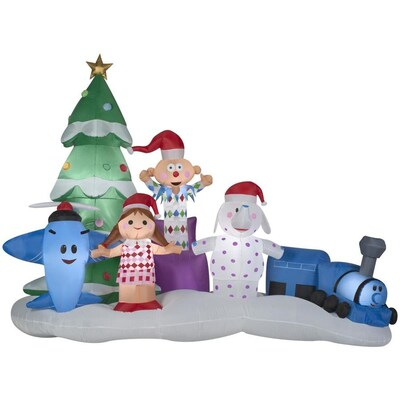 Christmas Inflatable.Gemmy Airblown Misfit Toys Scene 9 1 2 Foot Christmas
