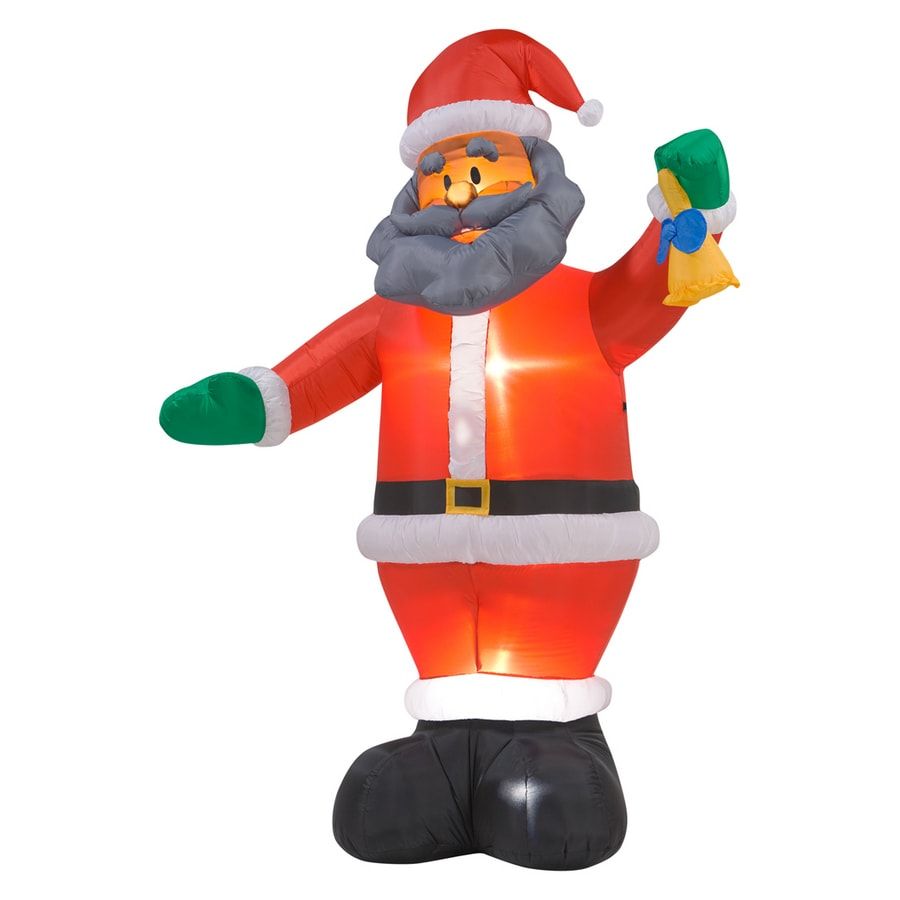 Shop gemmy ft inflatable african american santa at
