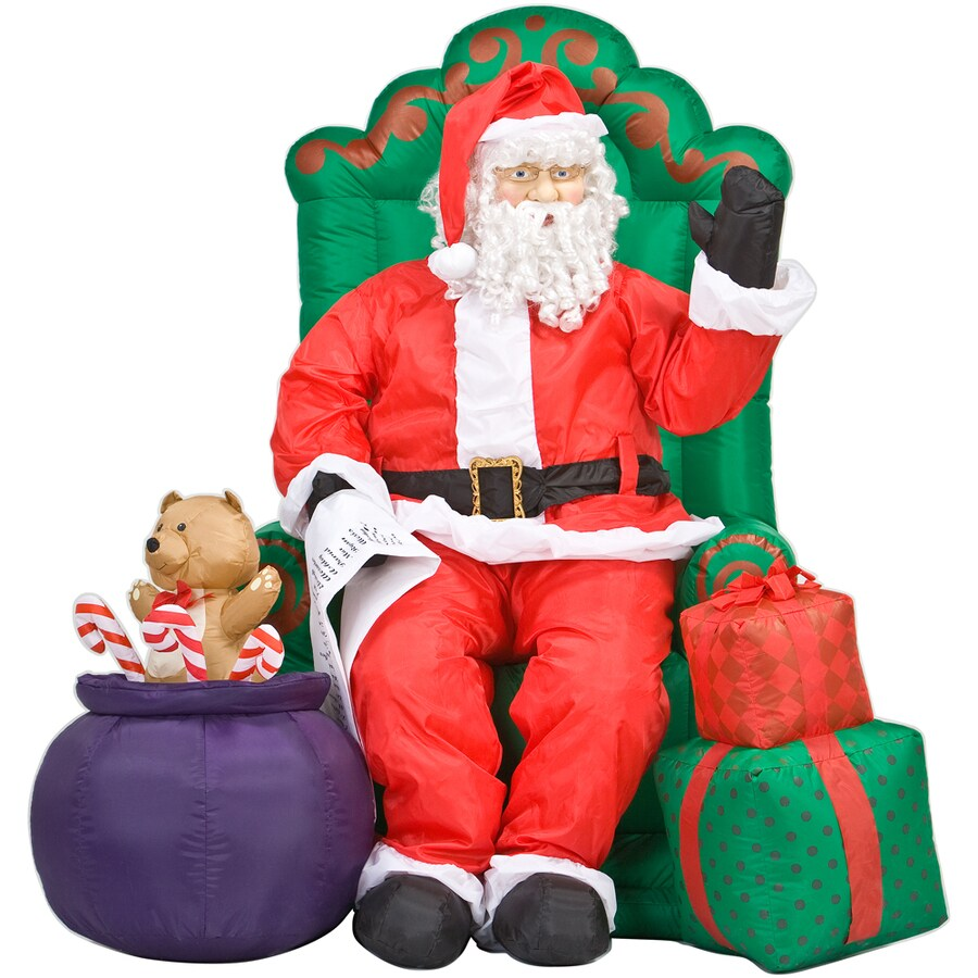 Shop gemmy inflatable santa claus at lowes