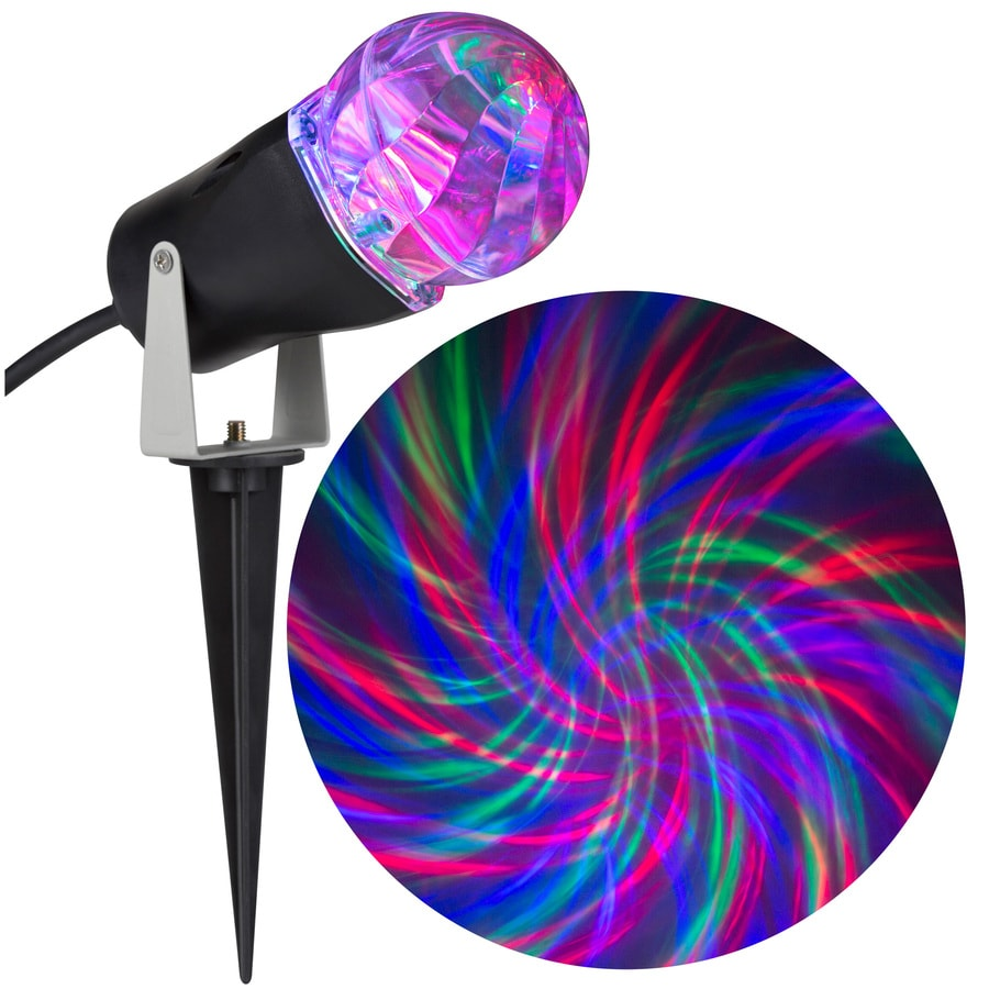 LightShow Swirling Multicolor LED Kaleidoscope Christmas Outdoor Stake Light Projector