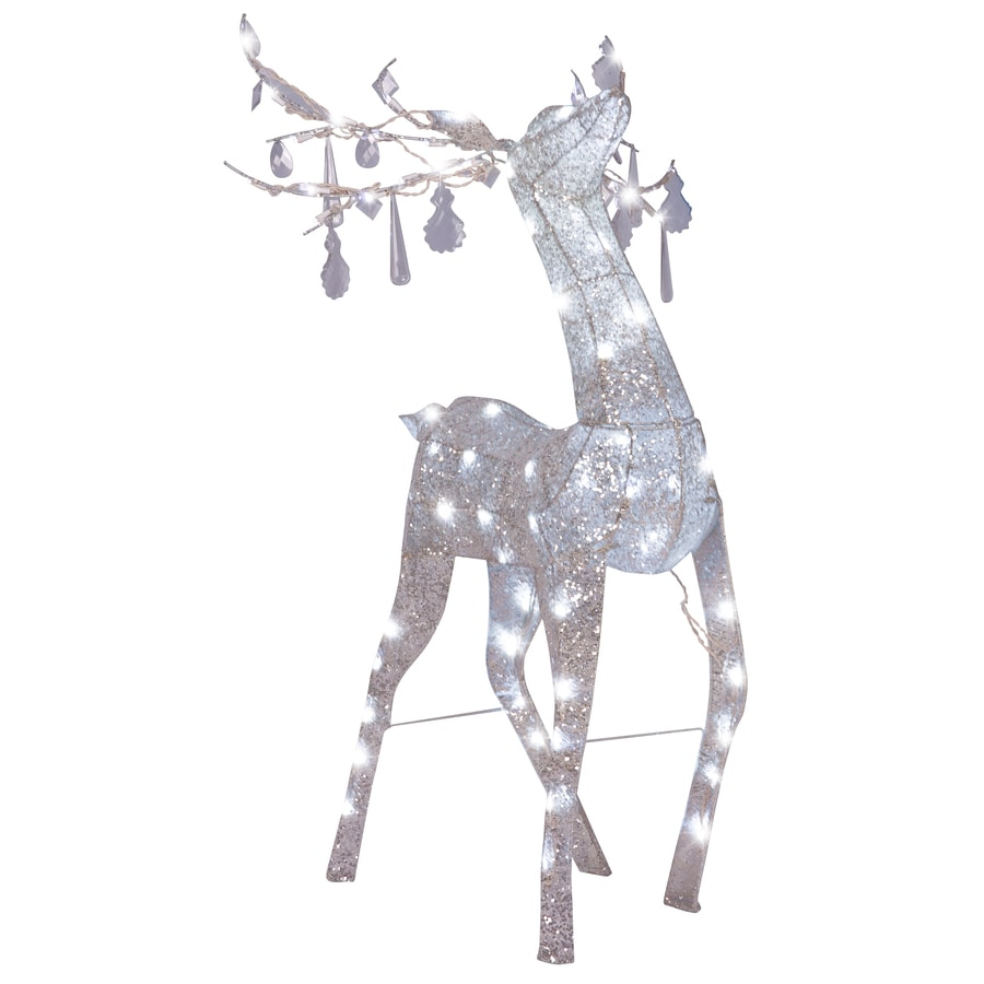 Gemmy Pre-Lit Reindeer Sculpture with Constant White Lights