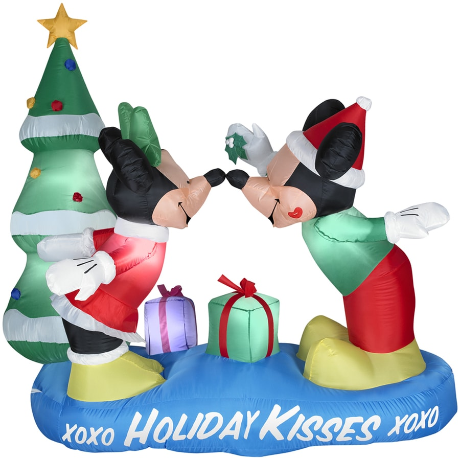 Holiday Living 5.41-ft Inflatable Fabric Christmas Mickey and Minnie