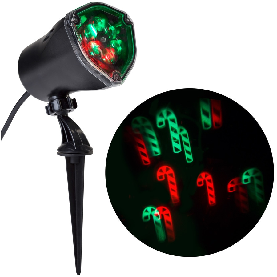 LightShow Lightshow Projection Multi-function Red/Green LED Multi-design Christmas Outdoor Stake Light Projector