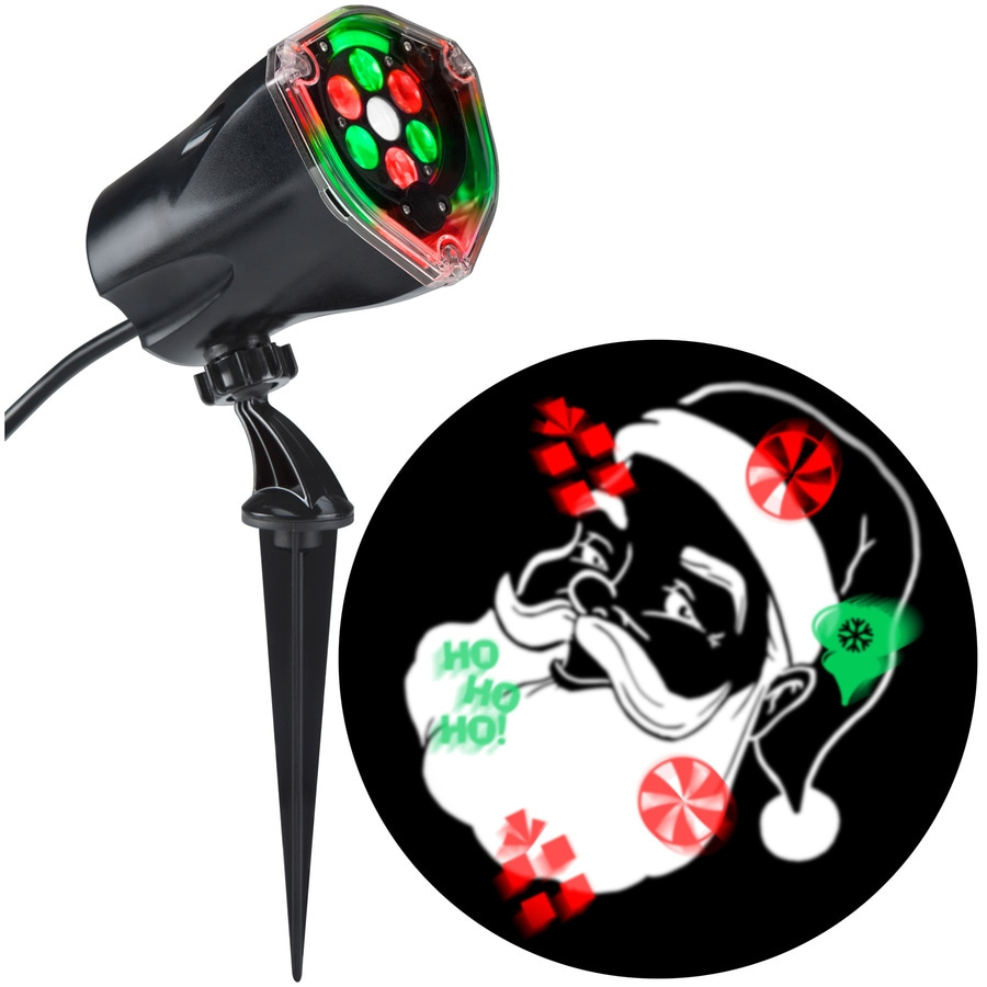 LightShow Projection Multi-function Multicolor LED Multi-design Christmas Outdoor Stake Light Projector