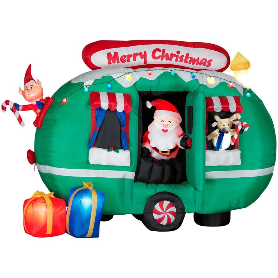 gemmy 6 inflatable santa - Blow Up Camper Christmas Decoration
